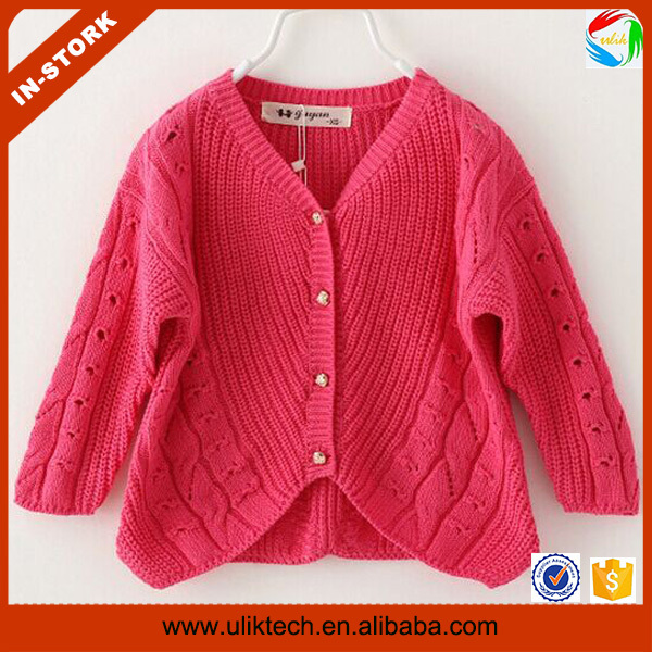 2015 fall new design children cardigan handmade sweater for girls wholesale kids  sweater (ulik,