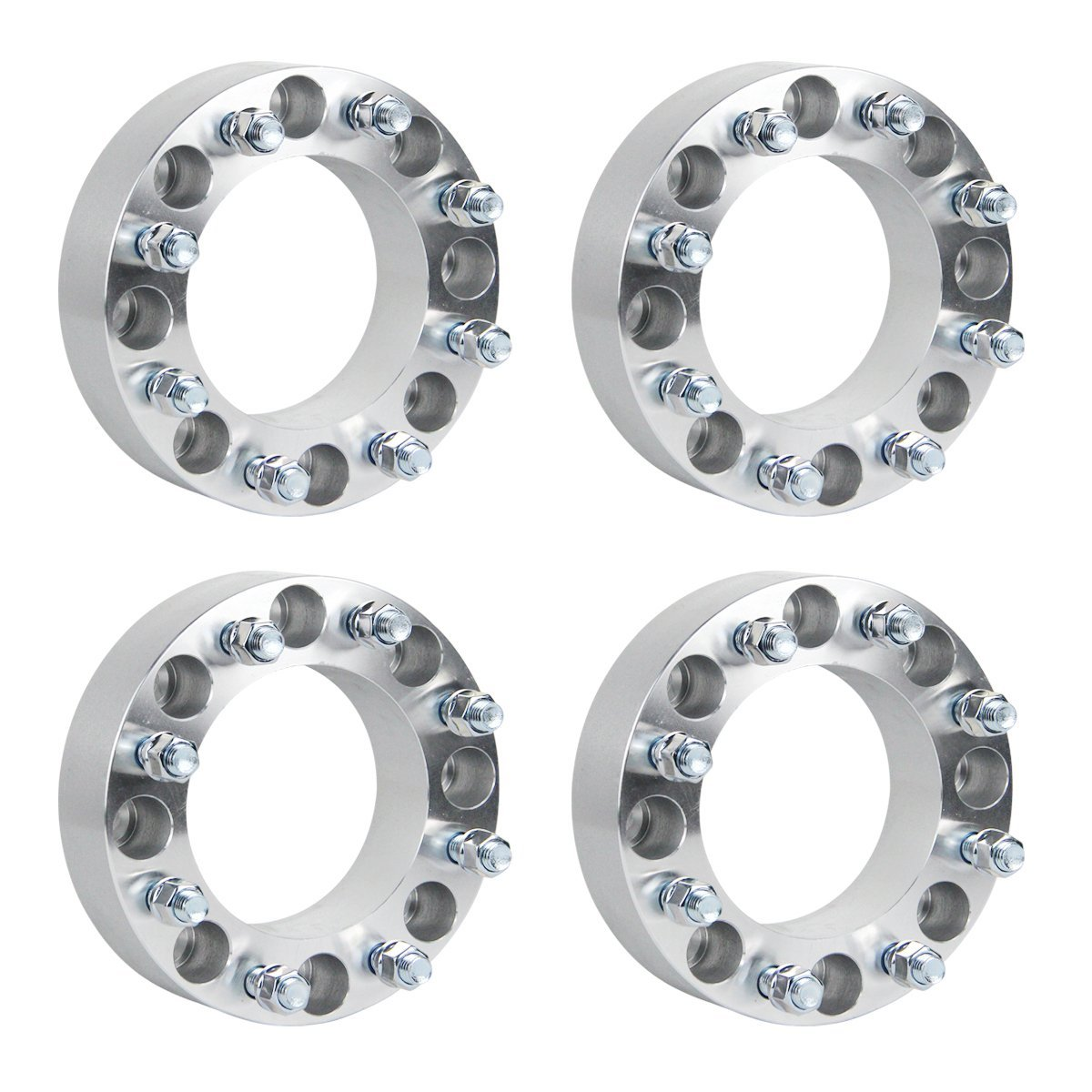 "GESS 4pc 2"" 8x170 to 8x170 Wheel Spacers for Ford F250 F350 Super Duty Excursion Truck 14x2 Studs (Arrive whithin 3-7 business days)"