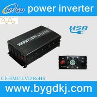 Household/outdoor 1000w pure and true sine wave power/ solar&wind energy charge inverters/converter/inversor (BY1000U)