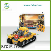New kids military vehicle 2ch rc changable tank with EN71 rc tank
