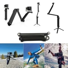 Gopro Accessories Monopod 3-way Multi-function Folding Arm Selfie stick Tripod Mounts for hero 4/3/3+/2 sj4000