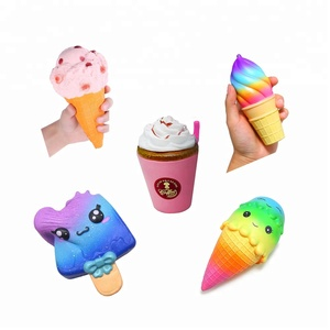 3d shapes cute licensed china supplier High Quality Squishy Ice Cream squishy toys