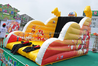 Customized inflatable stick velcro wall with suit