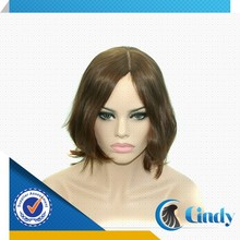 High quality short bob brown wholesale european jewish wig kosher wig