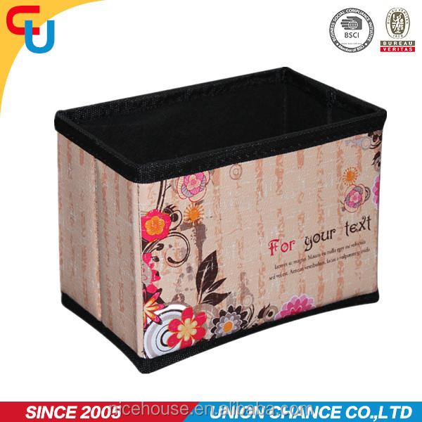 Flor impreso decorativo cajas de almacenaje de cart n for Cajas carton almacenaje