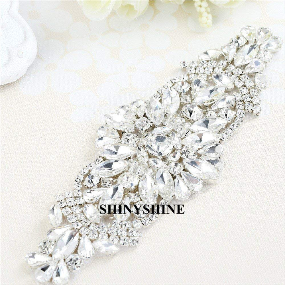 Bridal Sash Crystal Wedding Belt Pearl Beaded Wedding Dress Belt Rhinestone Applique RA153