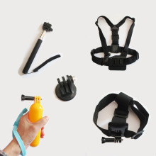 Gopro Accessories set Monopod Float Bobber Chest Belt kit For Hero 4 3 2 3 1