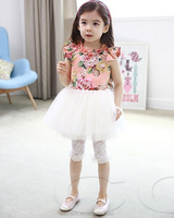 factory suppley 2015 spring girls rose dress joint pink tutu skirt for girls princess lace dress