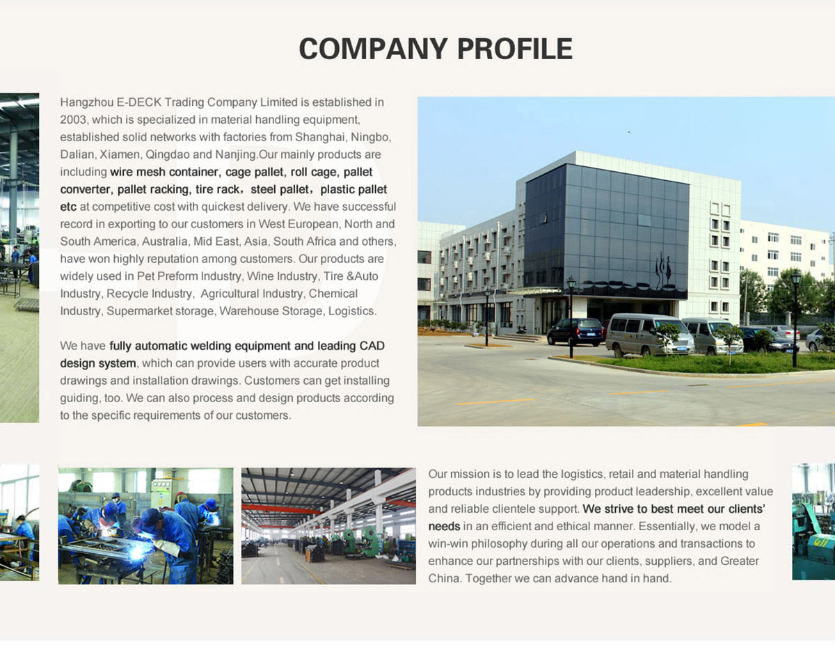 Hangzhou E-Deck Trading Company Limited - wire container, wire decking