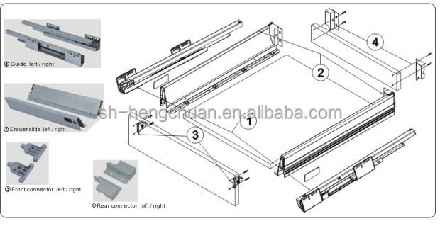 Silent Close Drawer Slides Blum Soft Close Metal Box