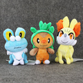 3styles Kawaii Anime Figures Collectible Froakie Fennekin Fox Chespin Plush Toys Blaze Game Soft Stuffed Gifts