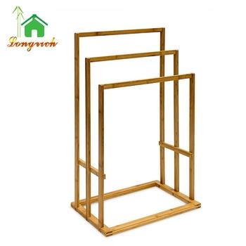 Bamboo Towel Rack Stand Tower Shelf Towel Dryer Hanger Washcloth Hanger    Buy Toel Dryer Hanger,Clothes Racks And Stands,Bamboo Towel Shelf Product  On ...