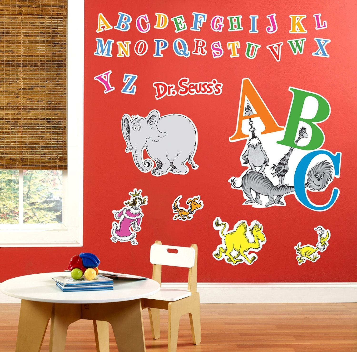 Get Quotations Dr Seuss Abc Room Decor Giant Wall Decals