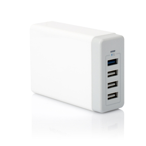 2019 Rohs Travel Charger for iPhone 5 6 7 8 Cellphone Charger Station Universal 4 Port AC DC Home Multi USB Charger