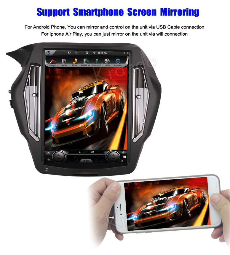 "Krando Android 7.1 15 ""Verticale screen auto dvd speler met gps voor Honda Accord 9 2013-2017 auto stereo systeem wifi KD-HA159"