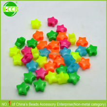wholesale colorful plastic star shaped beads for braclet