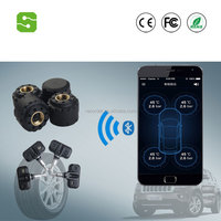 Facytory directly sale Blurtooth Tire Pressure Monitor System External and internal TPMS with 4 sensors