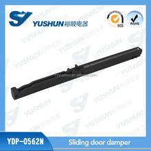 profile damper for sliding door soft close system