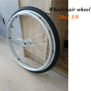 Wheelchair parts 24 x1 3/8 wheel for wheelchair