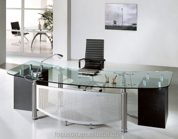 fks hd ed024 modern glass top office desk buy glass top rh alibaba com glass office desk ottawa glass office desk ottawa