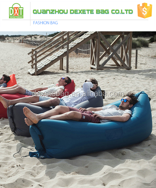 Indoor Outdoor Lazy Lounge Patio Balcony Air Filled Bean Bag Chair Air Furniture