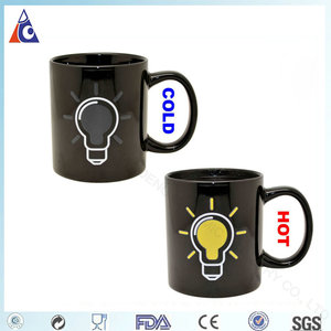 11OZ ceramic magic coffee mug with bulb color changing