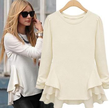 dbf0b905 Latest Fashion Blouse Design Europe Ladies Woolen Top - Buy Latest ...