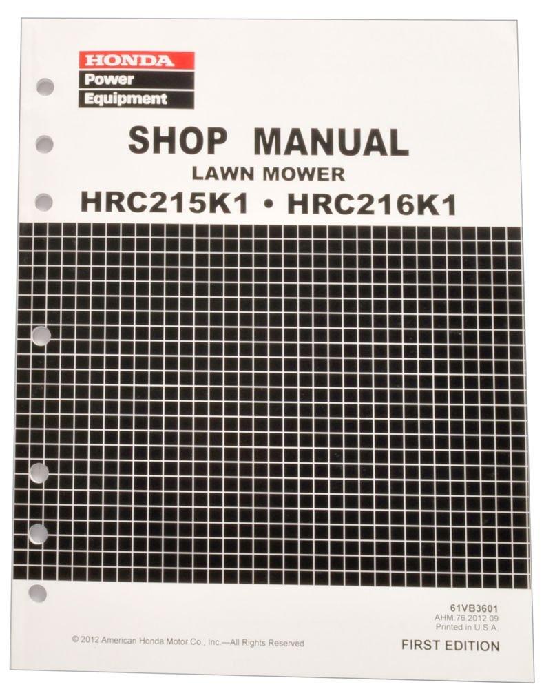 Honda HRC215 HRC216 Commercial Lawn Mower Service Repair Shop Manual
