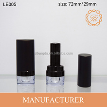 LE005 Plastic Lipstick Tube Unique Design Oval Tube with Transparent Base