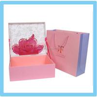 Popular fancy paper gift box packaging /wedding favors gift box