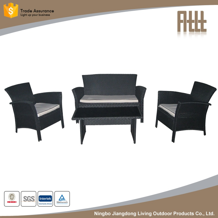 venta caliente barato azul ecofreindly modular exterior tejer mimbre muebles sof conjunto