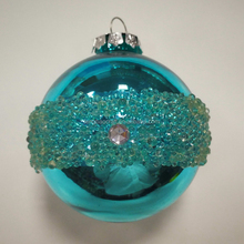 High Quality artificial christmas tree deco Gifts Shiny Blue Xmas Ball