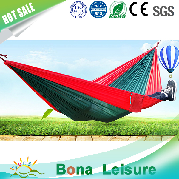 High quality portable parachute fabric indoor hammock for 2 person