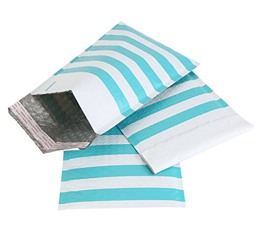 #0 6x10 Light Blue Padded Envelopes Bubble Mailers For Gift