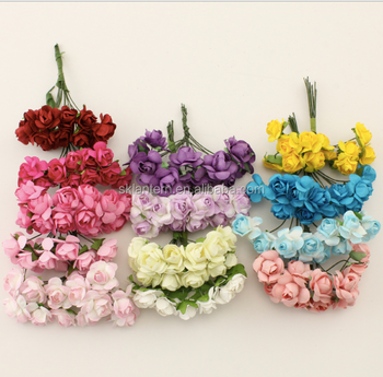 Mulberry Paper Flowers Roses Buy Mini Paper Craft Rose Flowerhead