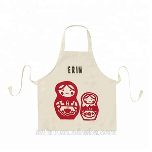 Newest wholesale 100% cotton white pinafore apron