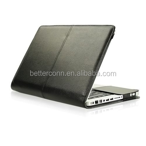 "Black Leather Case Cover Bag for Apple Macbook PRO 13"" A1278"