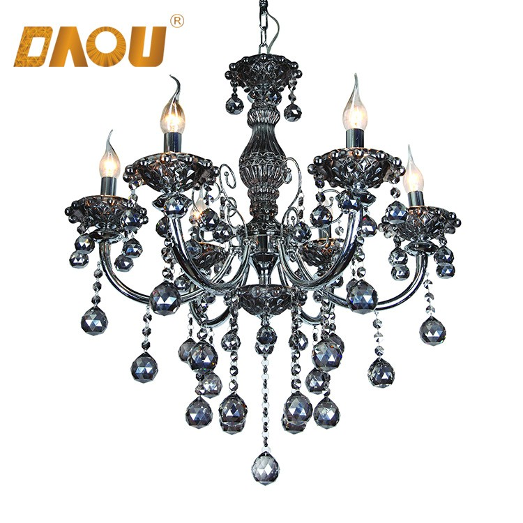 6 heads crystal drop pendant lamps smoky gray arabic antique 6 heads crystal drop pendant lamps smoky gray arabic antique luminaire chandelier for hotel and house mozeypictures Choice Image