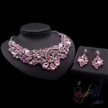 Heavy Kundan Jewelry Set Bridal Wedding Jewelry Set Pink Dominoes