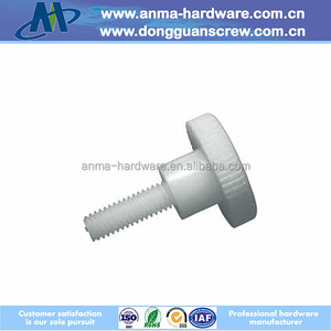 White rubber head screws with shoulder