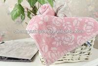 100% cotton velour jacquard hand towel