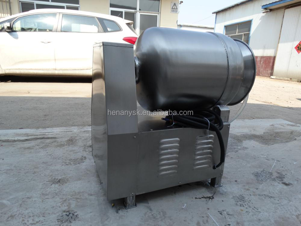 Large 1000 L Stainless Steel Vacuum Meat Tumbler Salted Food Rotary Barrel Tumbling Machine