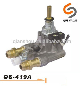 QS 419A double spray auto lighter gas hob range cooker valve with thermocouple