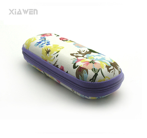 Wholesale assorted colors canvas design optical eye glasses case with factory price