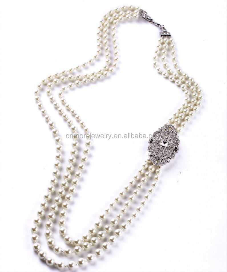 Classic Jewelry New 2015 Multi layer Bead Chain Pearl Necklace