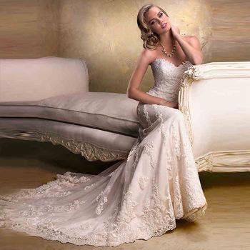 ZH1187D Stylish High-end lace wedding boob tube top Tailing wedding dress