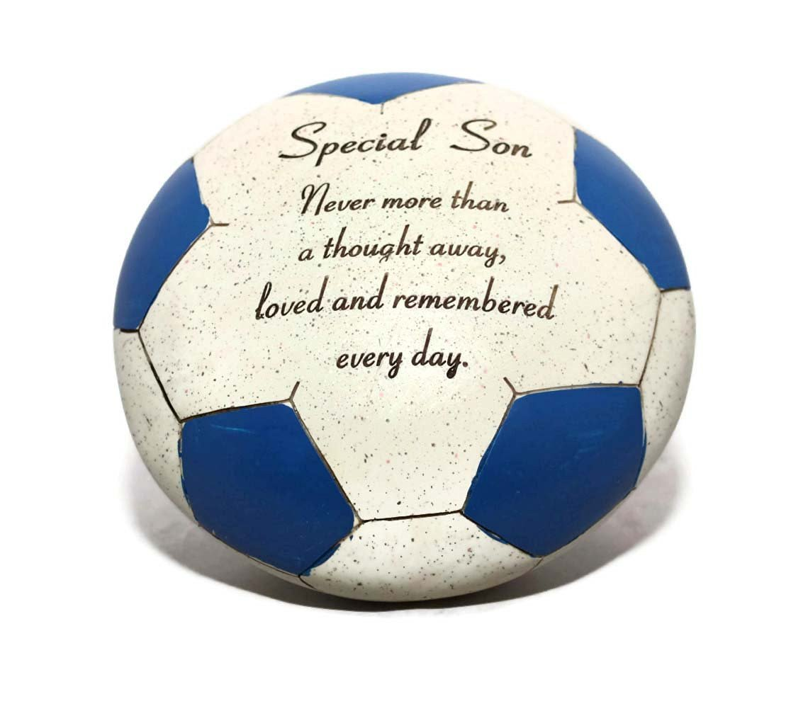 Get Quotations Special Son Blue Football Graveside Ornament