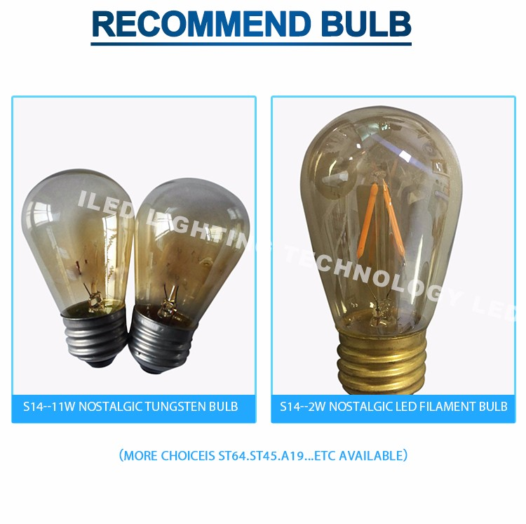 48 Foot E26 Commercial Connectable Outdoor Incandescent Light Bulb ...