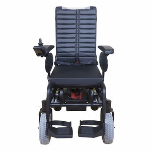 Perfect Design Manul Push Four Wheels Trolley Wheelchair With Power Supplier