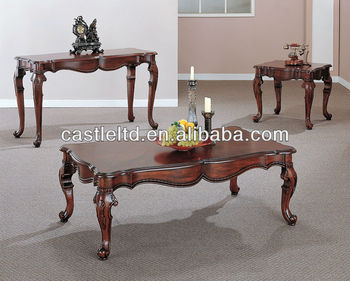 CF30046 High Grade Carved Curved Italy Coffee Table And End Sofa Table U0026  Italy Wood Furniture